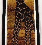 Banana leaf painting: giraffe