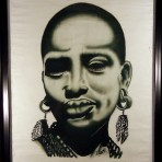 Painting of a Zulu woman's face