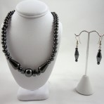 Haematite necklace and earrings