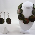 Green jewelry set