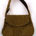 Brown and yellow purse