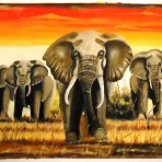 Painting of elephants