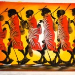 Painting of Maasai men and women