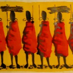 Maasai women painting