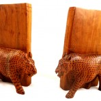 Leopard bookends