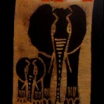 Elephant mother and baby wall hanging