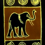 Elephant and zebra wall hanging