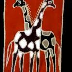 Giraffes wall hanging