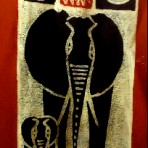 Elephant and calf wall hanging