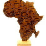 Wooden Africa map