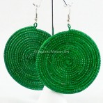 Green Sisal Earrings