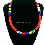 Orange Maasai Necklace
