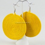 Yellow Sisal Earrings