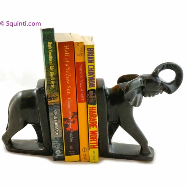 Stone Elephant Bookends