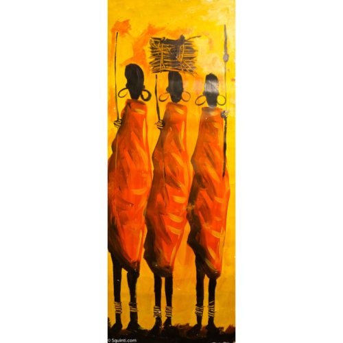 three maasai women