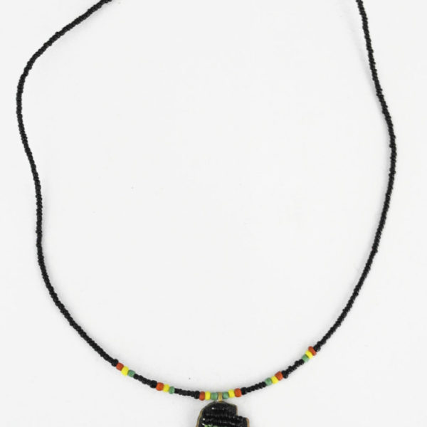 Beaded necklace with Africa pendant
