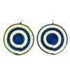 Round sisal earrings - khaki