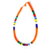 Maasai beaded necklace - orange