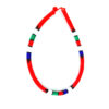 Maasai beaded necklace - red