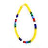 Maasai beaded necklace - yellow
