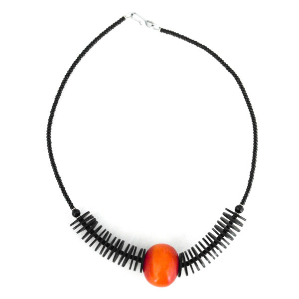 Orange ball necklace