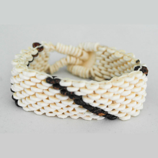 White bracelet made from ostrich egg shells