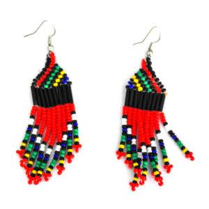 Beaded earrings - red