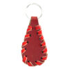 red leather keychain