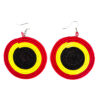 Round sisal earrings - multicolored