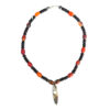 Stone pendant necklace with orange beads