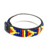 Thin beaded bracelet-blue and yellow