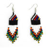 Beaded earrings - white