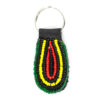 Beaded keychain - yellow and green